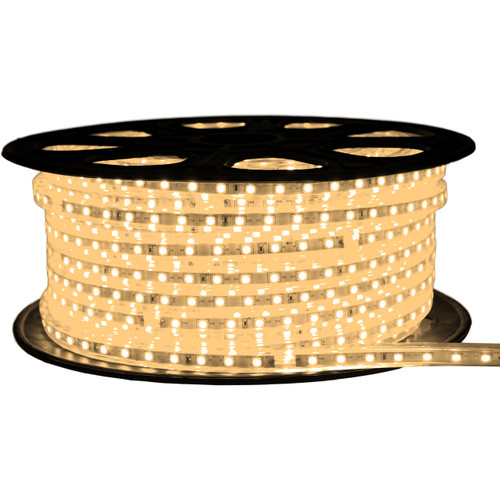 Warm White LED Strip Light - 120 Volt - High Output (SMD 5050) - 148 Feet