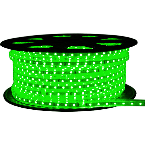 Green LED Strip Light - 120 Volt - High Output (SMD 5050) - 148 Feet