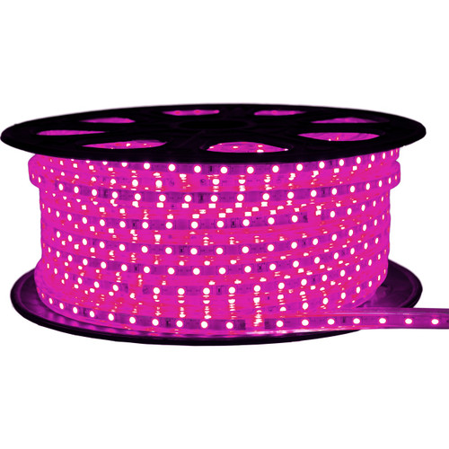 Pink LED Strip Light - 120 Volt - High Output (SMD 5050) - 148 Feet