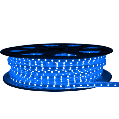 Blue LED Strip Light - 120 Volt - High Output (SMD 5050) - 65 Feet