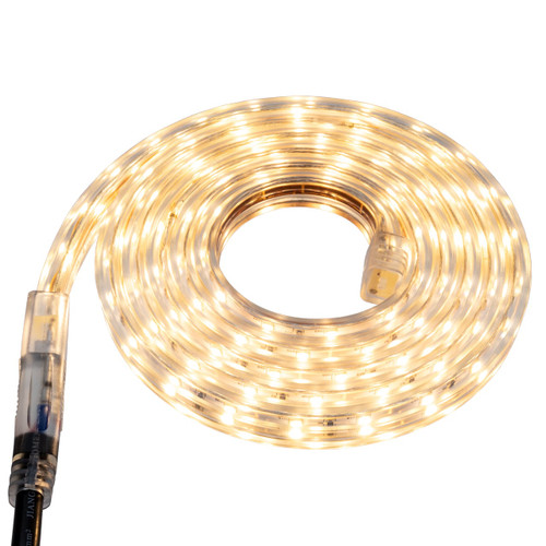 Warm White LED Strip Light - 120 Volt - High Output (SMD 3528) - Custom Cut