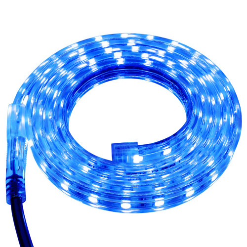 Blue LED Strip Light - 120 Volt - High Output (SMD 3528) - Custom Cut