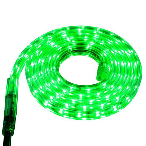 Green LED Strip Light - 120 Volt - High Output (SMD 3528) - Custom Cut