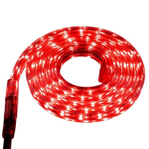 Red LED Strip Light - 120 Volt - High Output (SMD 3528) - Custom Cut