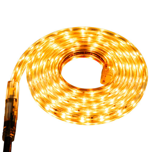 Yellow LED Strip Light - 120 Volt - High Output (SMD 3528) - Custom Cut
