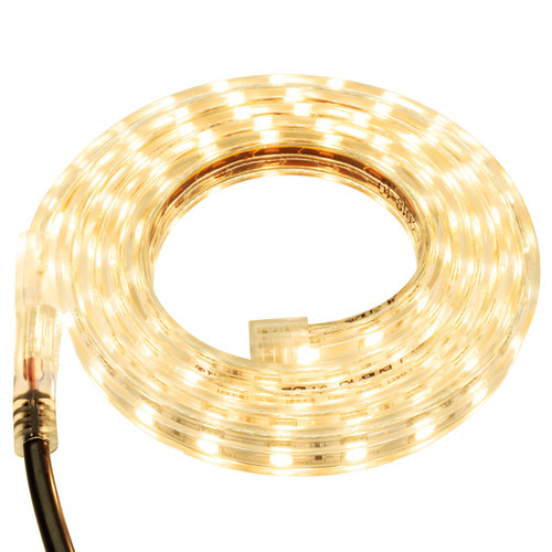 Warm White LED Strip Light - 120 Volt - High Output (SMD 5050) - Custom Cut
