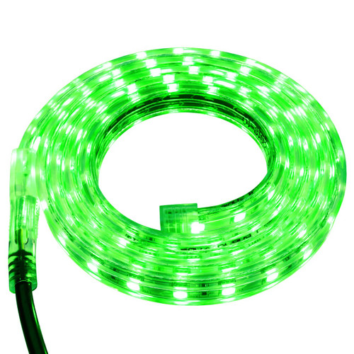 Green LED Strip Light - 120 Volt - High Output (SMD 5050) - Custom Cut