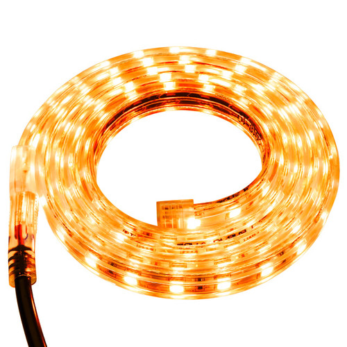 Yellow LED Strip Light - 120 Volt - High Output (SMD 5050) - Custom Cut