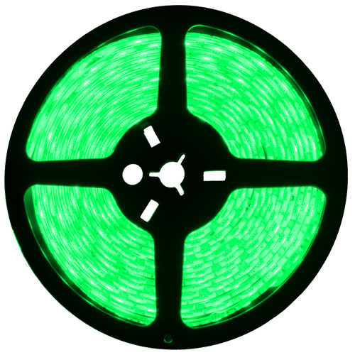 16.4ft green led strip light spool - 12 volt - smd-3528 - ip65