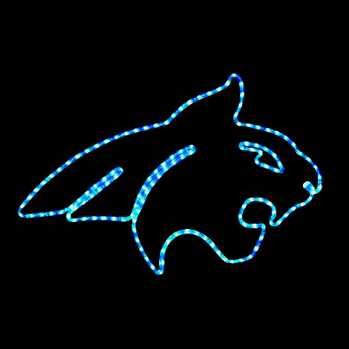 30 inch blue led rope light montana state university bobcat motif