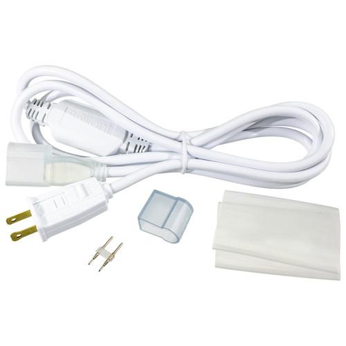 White LED Neon Rope Light Power Cord Kit - 120 Volt - 5 Feet