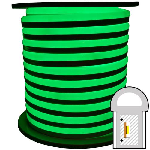 Green SMD LED neon rope light spool - 120 Volt - 148 Feet