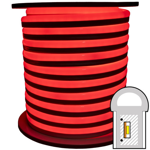 Red SMD LED neon rope light spool - 120 Volt - 148 Feet