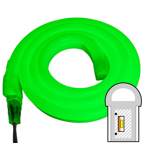 Green SMD LED Neon Rope Light - 120 Volt - Custom Cut