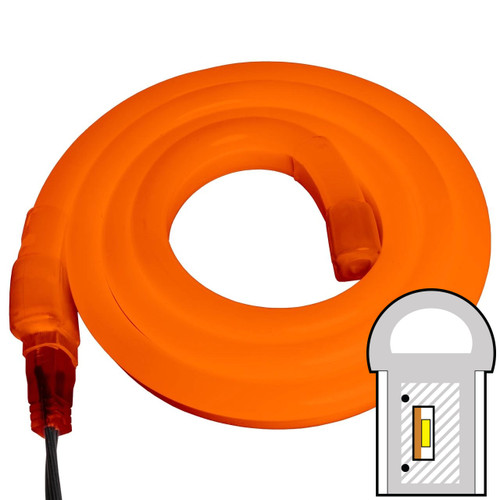 Orange SMD LED Neon Rope Light - 120 Volt - Custom Cut