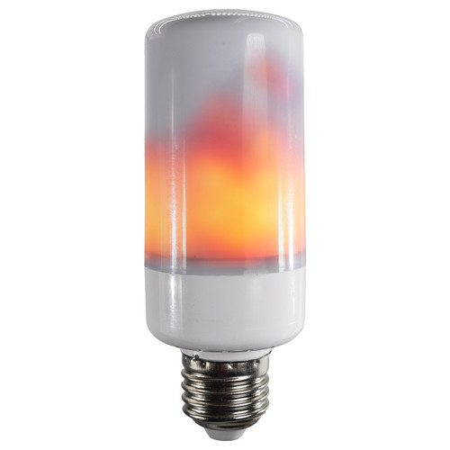 led animated flicker flame effect light bulb - realistic burning fire