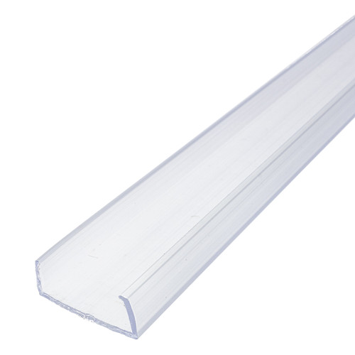 39 Inch x 1 Inch LED Grow 5 Row Strip Light Mounting Track - Clear PVC Channel - 120 Volt