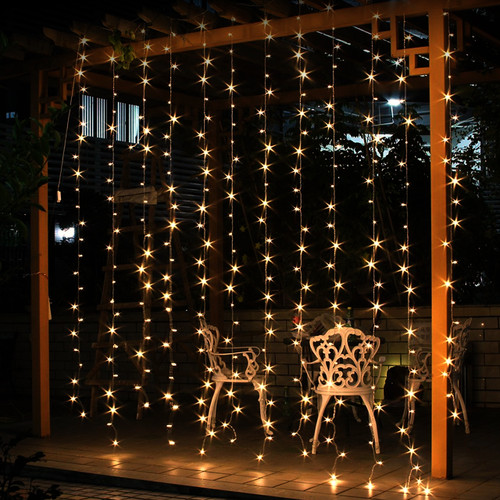 16.5 Foot Clear Incandescent Commercial Wall Light Curtain