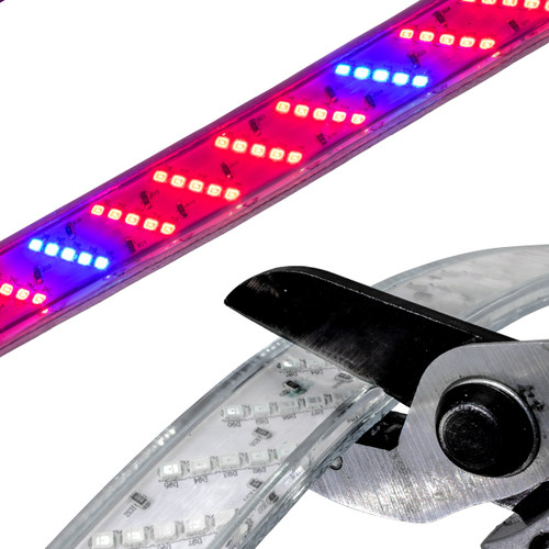 LED 5 Row Strip Plant Grow Light - 120 Volt - High Output (SMD-2835) - Custom Cut
