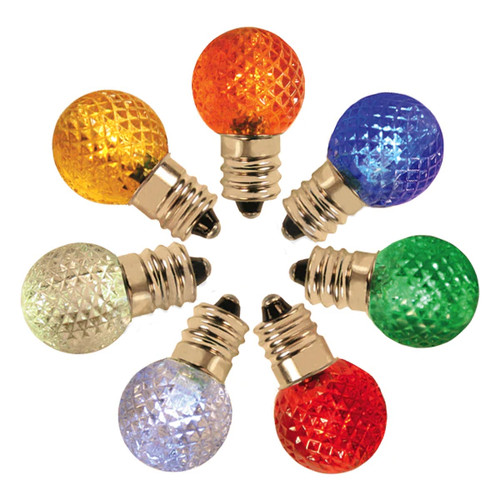 G20 LED Bulbs with faceted globe