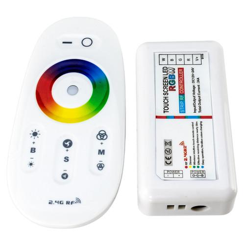 RGBW LED Strip Light Mini Controller with 10 Key Wireless Remote - 12 Volt