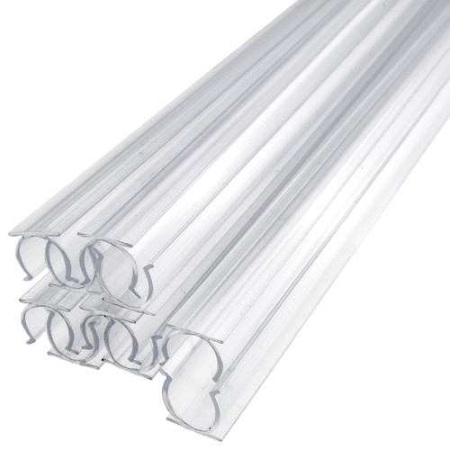 24 inch x 1/2 inch clear rope light mounting track (10-Pack)