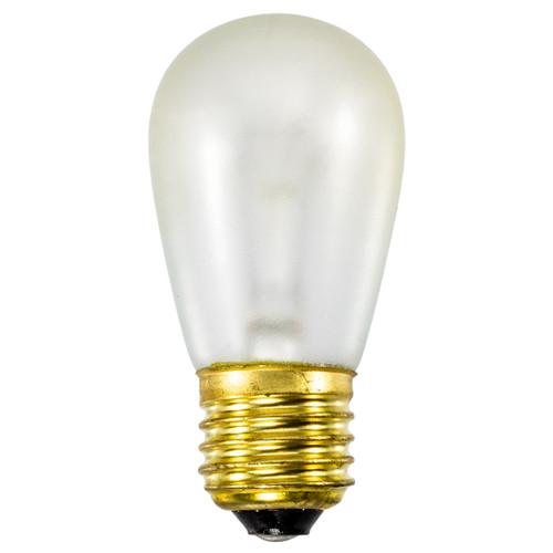 Clear S14 11 Watt Safety Coated Bulbs (20 pack)