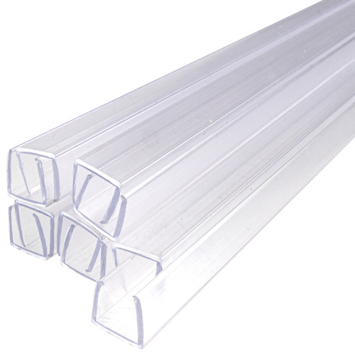 24 Inch x 7/16 Inch LED Neon Strip Light Mounting Track - Clear PVC Channel (10 Pack) - 120 Volt
