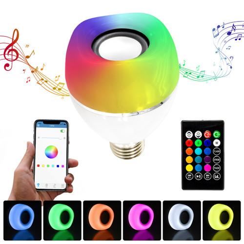 LED  RGB Color Changing Speaker Bulb - Bluetooth Music Light - E27