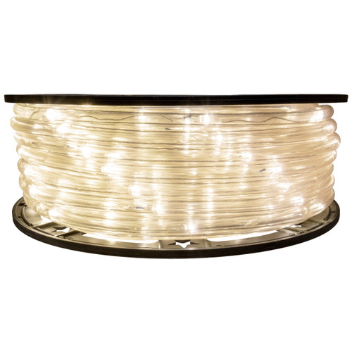 Warm White 5 Inch Wide Spacing LED Rope Light - 120 Volt - 148 Feet - C7/C9 Alternative