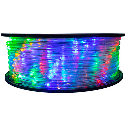 Multi-Color 5 Inch Wide Spacing LED Rope Light - 120 Volt - 148 Feet - C7/C9 Alternative