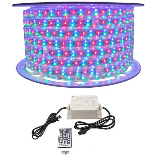 RGB Color Changing SMD LED Rope Light - 120 Volt - 148 Foot Bundle