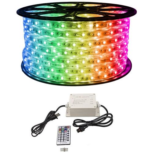 RGB Color Changing LED Strip Light - 120 Volt - High Output (SMD 5050) - 148 Foot Bundle