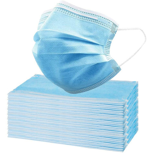 Disposable 3 Layer Surgical Style Face Mask With Ear Loops - Civilian Grade - FDA Registered - 50 Pack - As Low As .45 Each