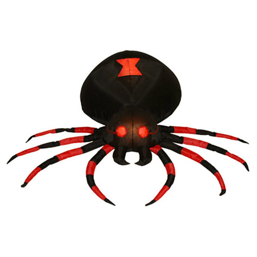 4 Foot Black Spider LED Halloween Inflatable