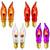 Orange / Purple / Red/ Clear C7 (CA10) Flicker Flame String Light Bulbs (2-Pack)