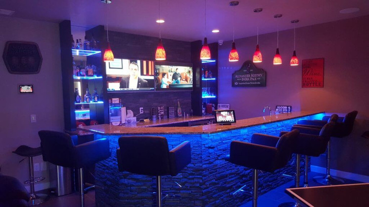 Give Your Home Bar a Nightclub Feel With Neon Strip Lights
