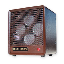 LEFT SIDE OF PORTABLE BROWN BOX HEATER