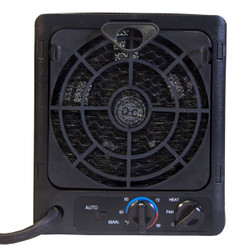 BACK VIEW PORTABLE BROWN BOX HEATER
