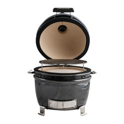 11 inch outdoor ceramic kamado grill front open