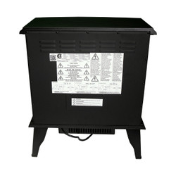 REAR VIEW OF BLACK ELECTRIC STOVE