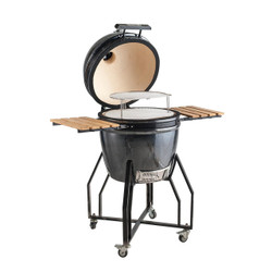 All-Pro 19 In. AP1981B1 Outdoor Black Ceramic Kamado Grill Powder Coated Trim