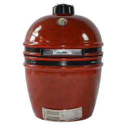 Autumn red outdoor kamado ceramic grill