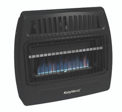 Black Kozy World Blue Flame Wall Heater Front View