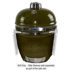 Garden green outdoor kamado ceramic grill