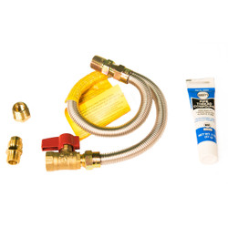 Gas appliance install kit