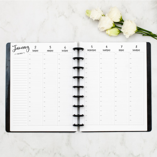WEEKLY + MONTHLY CALENDAR |     HOURLY