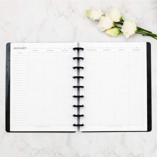 WEEKLY + MONTHLY CALENDAR | LINED