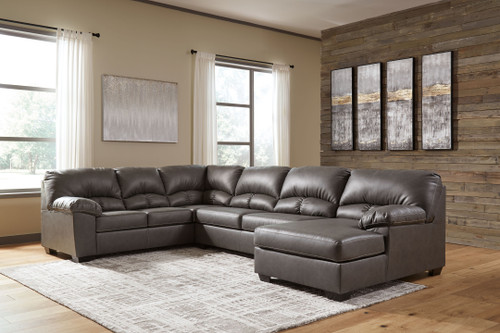 Aberton Gray Sectional with Chaise