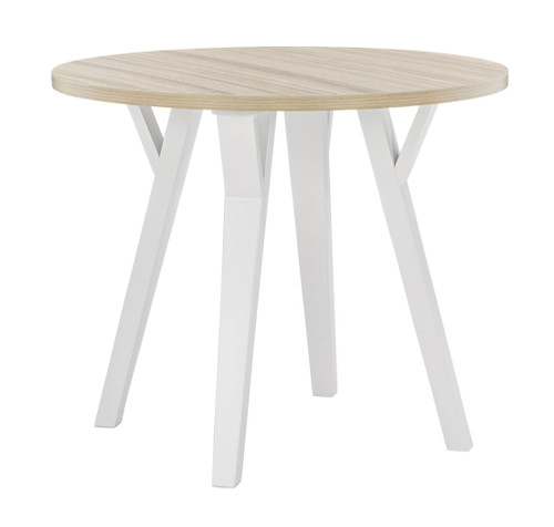 Grannen White/Natural Round Dining Table